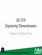 Engineering Thermodynamics - Gas Power Cycles (Reciprocating Engine)