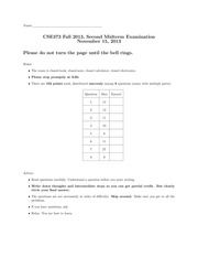 CSE373 Fall 2013, Second Midterm Examination Solutions
