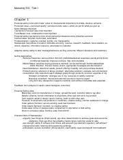 Marketing 504 - Test 1 Notes