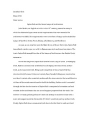 19th Century Architecture - Essay 2