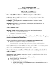 2PSYC 201 Final Study Guide