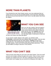 MORE THAN PLANETS