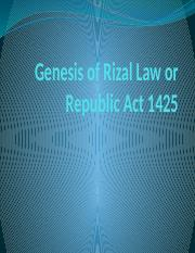 Genesis of Rizal Law or Republic Act 1425 (2)