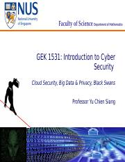 Lecture 10 - Cloud and Big Data Security_ Privacy_ Black Swans [272922]