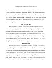 The Stages of Alcoholism and Related Health Issues.docx