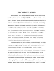 essay for college education