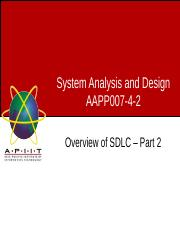 Week05 - Lecture 2 - Overview of SDLC