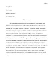 Reflective Journal for Narrative Essay.docx
