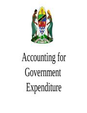 02. Accounting for Government  Expenditure