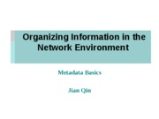 Organizing Information in the Network Environment