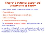 Chapter8 Potential Energy and conservation of energy