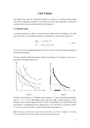 Intermediate Microeconomics Ch5 notes
