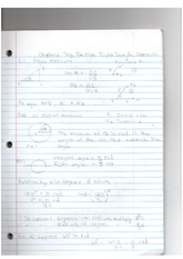 Lecture Notes CH-6 Trig Function & Right Triangle Approach