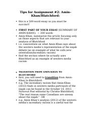 Blatchford and Amin-Khan Assignment 2 TIPS overheads.docx