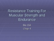 Module 5 (Lec 2) - Strength Training