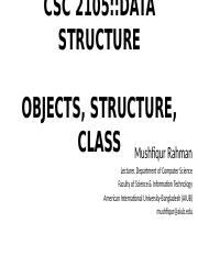 Lecture 04 - Object, Structure, Class.pptx