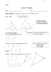 MBF3C Similar Triangles Practise with solutions