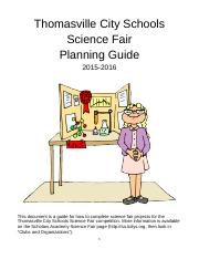 TCS Science Fair Guide 2015-16 FINAL VERSION
