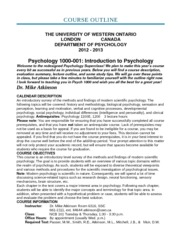 Psych 1000 - Full Lecture Notes
