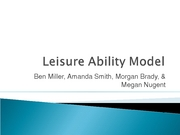 Leisure Ability Model