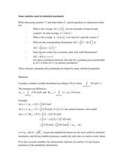 CHEM 544 Basic Chemical Statistics Review Notes