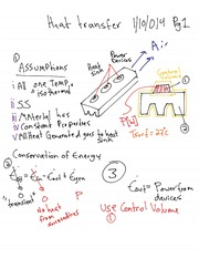 Heat Transfer - Conservation of Energy