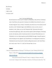 Annotated Bibliography- Max Bloomer