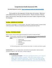 Comprehensive Health Assessment TIPS.docx