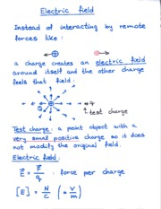 Electric Field Notes