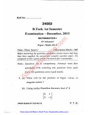 maths 1 dec 2013 mdu btech
