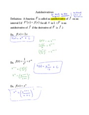 01 - Antiderivatives