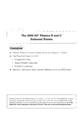 2009 AP Physics B and C Released exams