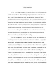 White Coon Essay