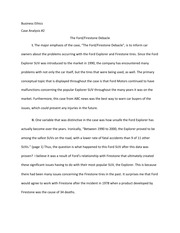 Ethics paper on ford and firestone