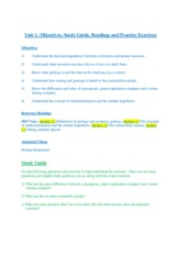 Unit 1 Introduction Study Guide