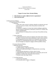 Chapter 8 Notes Organizational Behavior