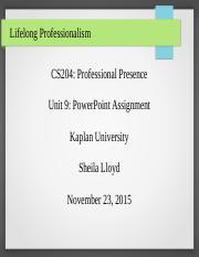 cs204 unit9 assignment lifelong professionalism cs204 professional