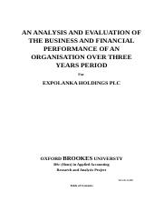 AN ANALYSIS AND EVALUATION OF THE BUSINESS AND FINANCIAL PERFORMANCE.docx