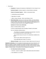 Bioethics Midterm Study Guide '13