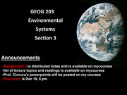 Geog 203 Lecture 17