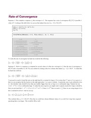 Lecture Notes on Rate and Order of Convergence