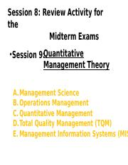 Session 9- Quantitative Management Theory.ppt