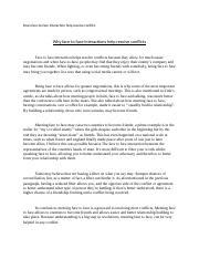 resolving conflicts argumentative essay