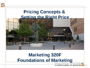 MKTG 19 & 20 - Pricing - Key Slides - 320F