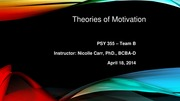 Wk 2 LT B Theories of Motivation