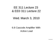 6.8 Lecture23 Cascode with Active Load and Cascode Configurations_1