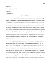 English Essay september 7th 2011