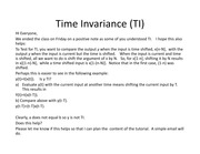 Time Invariance %28TI%29 extra slide