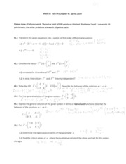 Math 55 Test #4 (Chapter 9) Spring 2014 SOLUTIONS