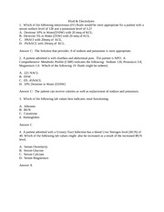 Answers to Fluid and Electrolyte handout questions